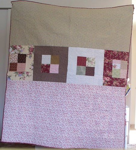 finished quilt back
