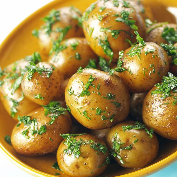 A delicious roasted baby potato recipe compliment any meal. Roasted Baby Potatoes with Herbs Recipe from Grandmothers Kitchen.