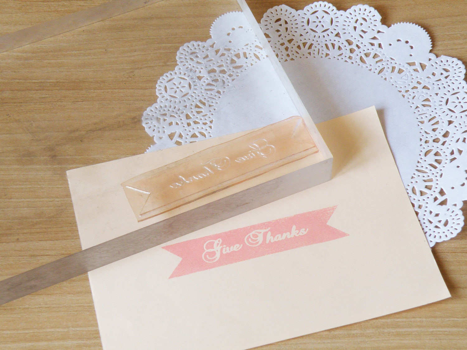 Give Thanks Clear Polymer Stamp