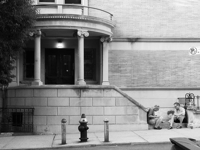 On the stoop, Park Slope
