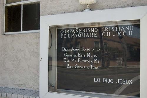 Spanish Church Sign