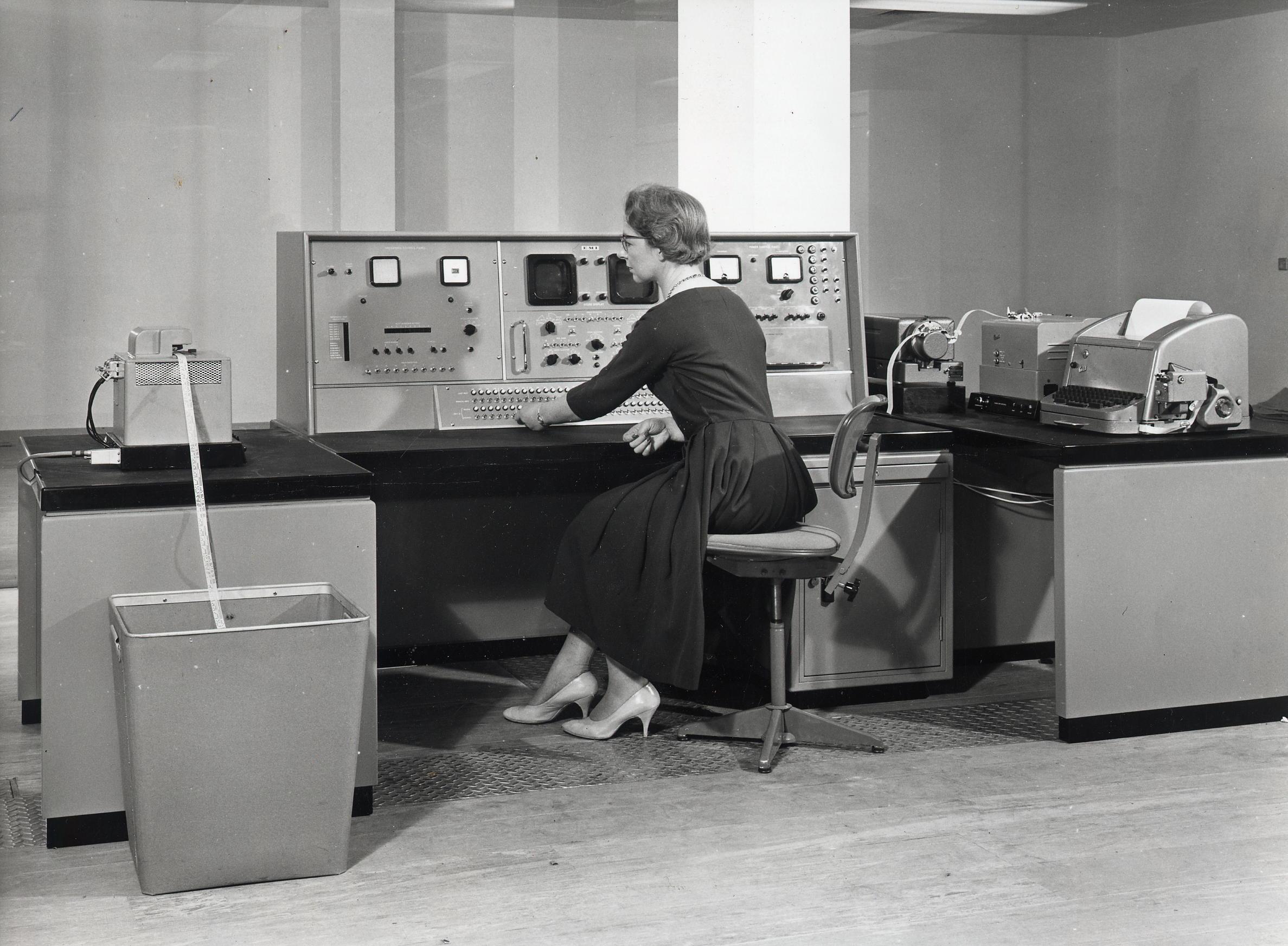 At Barclays No. 1 Computer Centre (1959)