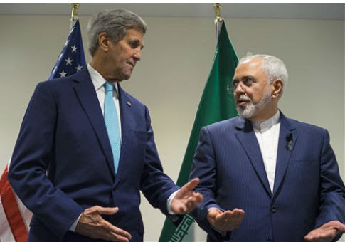 John Kerry, left, and Javad Zarif / AP