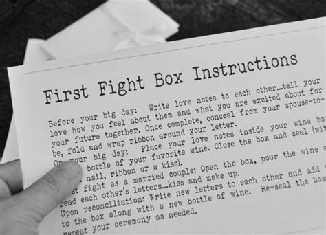 First fight box instructions digital printable