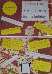 Reasons to Start Preparing for the Holidays - 30 Days of Lists - Day 5