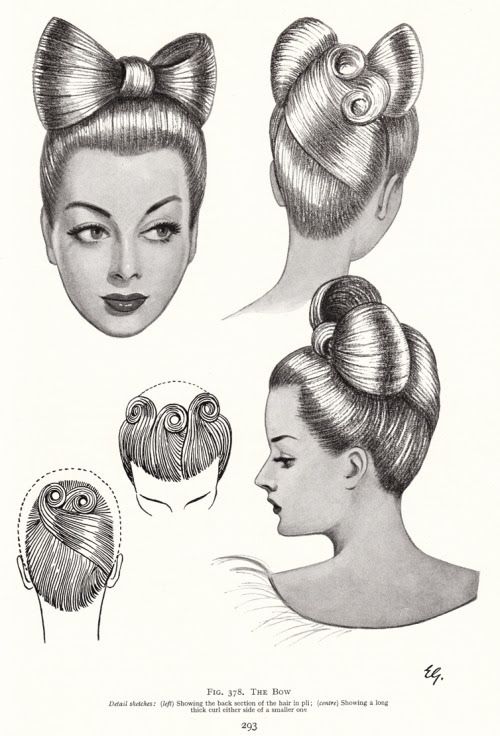 kronstadt21:  'The Bow' from The Art & Craft of Hairdressing, N E B Wolters, 1958 edition.  Vintage Scans.