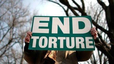 Anti-torture protester in Washington, file pic