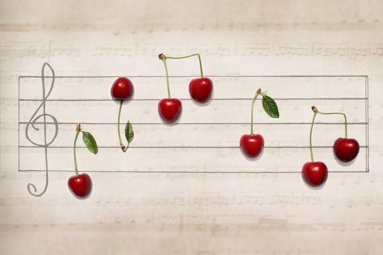 Food Conceptual photograph. Kitchen decor. Cherry and melody. Portative idea. Rustic. Still life photo. Red pastel color. Cottage. Nature - AylilAntoniu