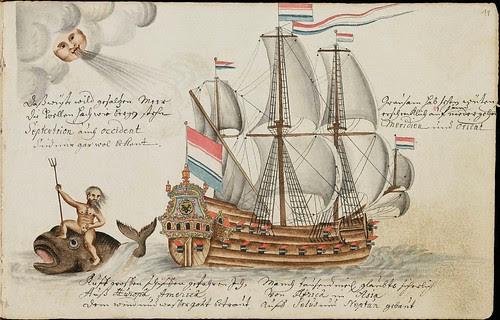 VOC warship, whale & trident
