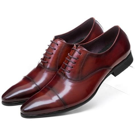 Fashion Black / brown tan oxfords shoes mens dress shoes