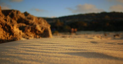 a patch of sand on our way from the water to the tents