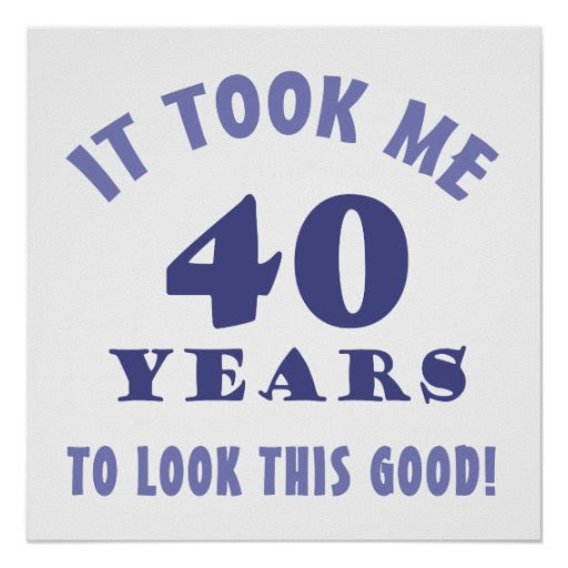 Hilarious 40th Birthday Gag Gifts Posters