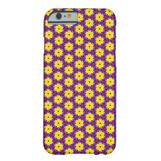 Yellow Pinwheel-like Design on iPhone 6/6S Case Barely There iPhone 6 Case