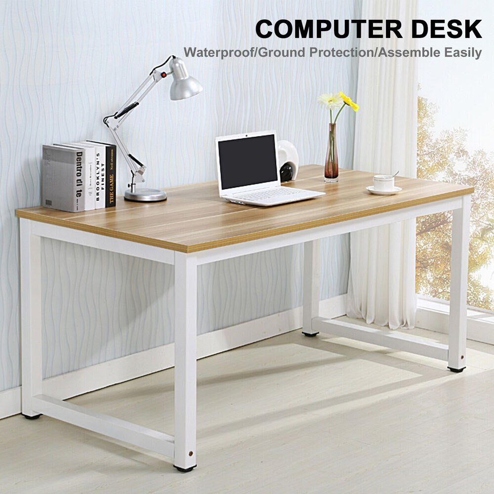 Computer Desk PC Laptop Table Wood Workstation Study Home Office Furniture  eBay