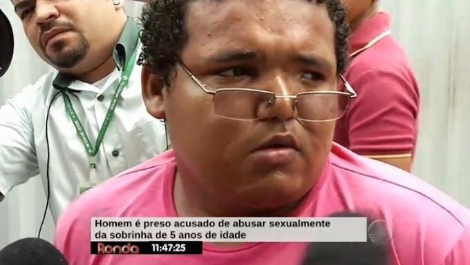 Homem é preso acusado de abusar sexualmente da sobrinha em THE