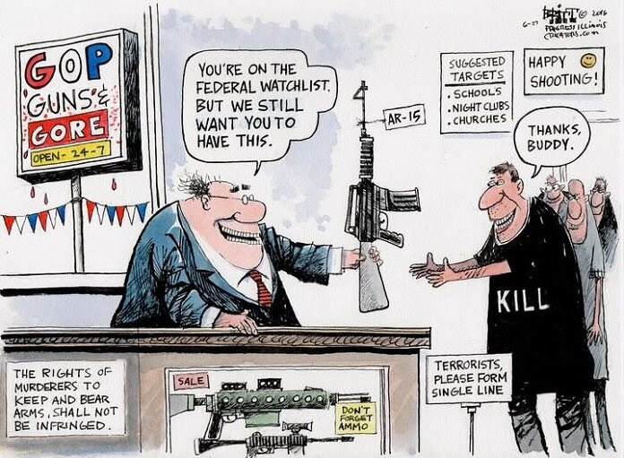 Image result for trump guns deficit cartoon