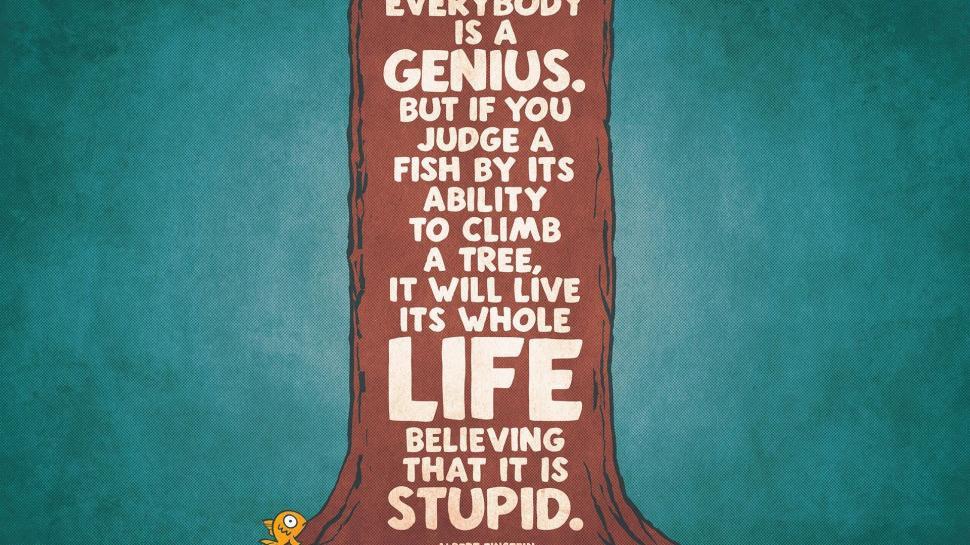 Albert Einstein Motivational Quote Hd Wallpaper Funny Wallpaper