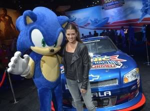 Sega Sonic the Hedgehog and Danica Patrick NASCAR driver