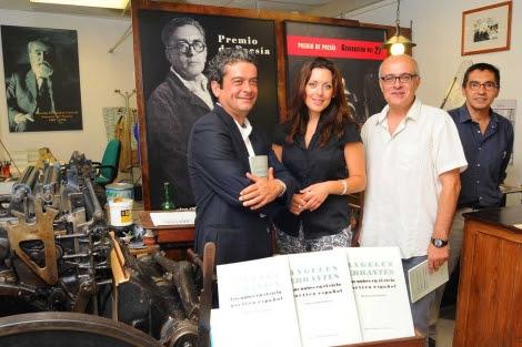 Mesa Toré, Marina Bravo, Antonio Lafarque y Pepe Andrade, en la Imprenta Sur. | N. Alcalá