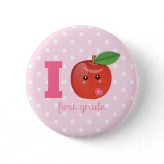 I Heart First Grade Button
