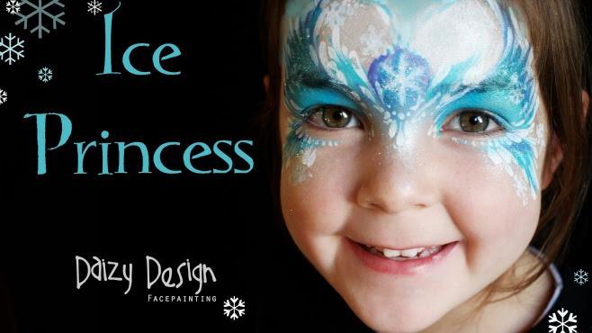 Buz Prenses Stili Yüz Boyama Nasıl Yapılır