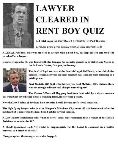 Lawyer cleared in rent boy quiz - Daily Record 15 08  2009