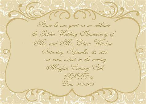 50th Wedding Anniversary Invitation by celebrationspaperie