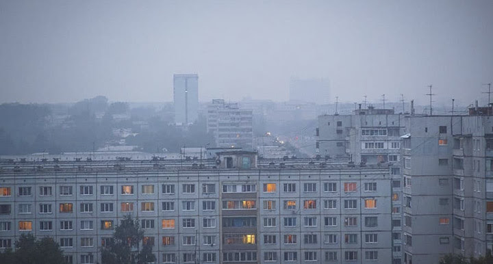 Smoke in Kemerovo