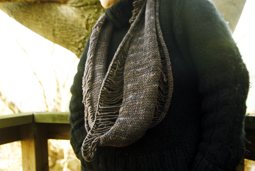 Destroyed Cowlhandknit scarf