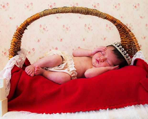 Giovanna dorme como uma princesa (Foto: André Furtado)