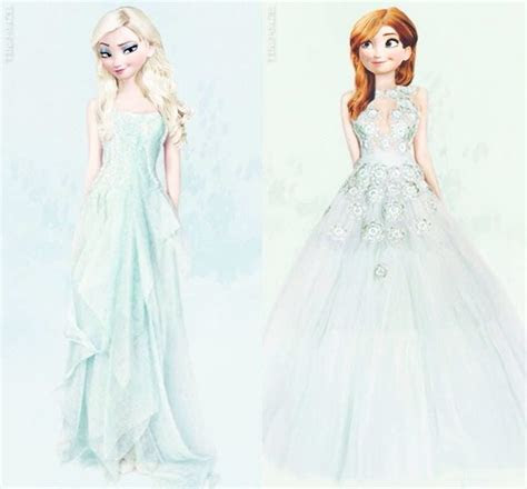 Anna and Elsa in ice dresses!! ?   Things I ?   Pinterest