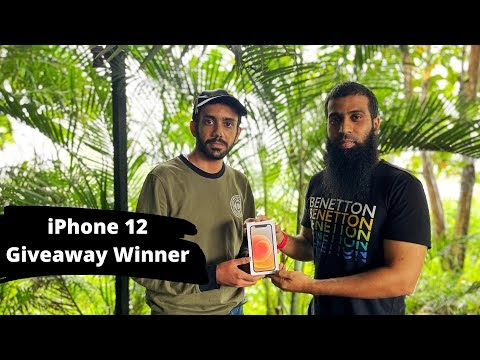 iPhone 12 Giveaway Winner gets his iPhone 12 hand delivered by Nabeel Nawab | LetyShops