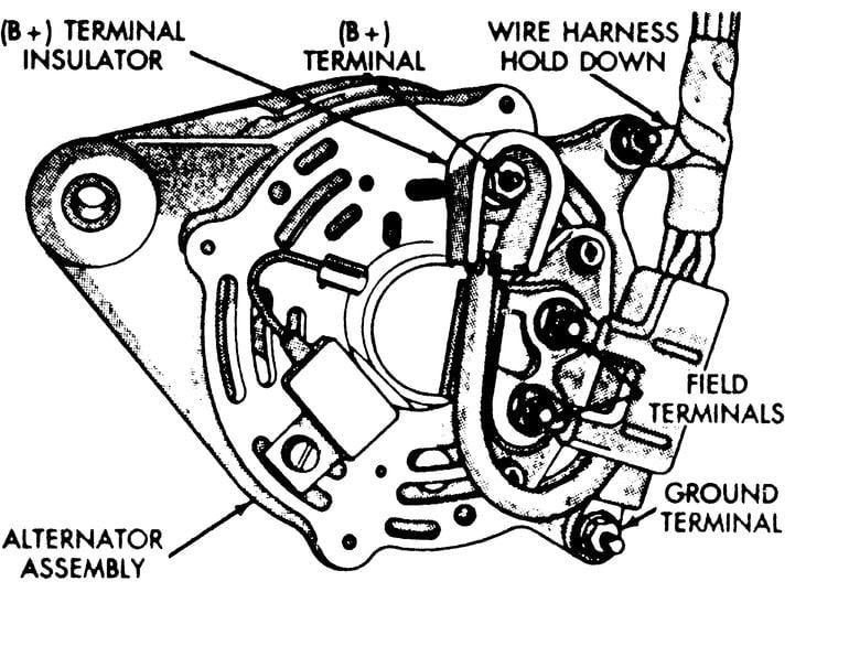 91 dodge durango alternator wiring image 6