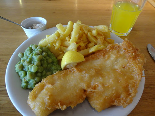 Fish & Chips with Peas