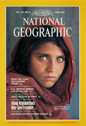 Gula foi imortalizada em capa da revista National Geographic em 1985 (Foto: Reprodução/ National Geographic)