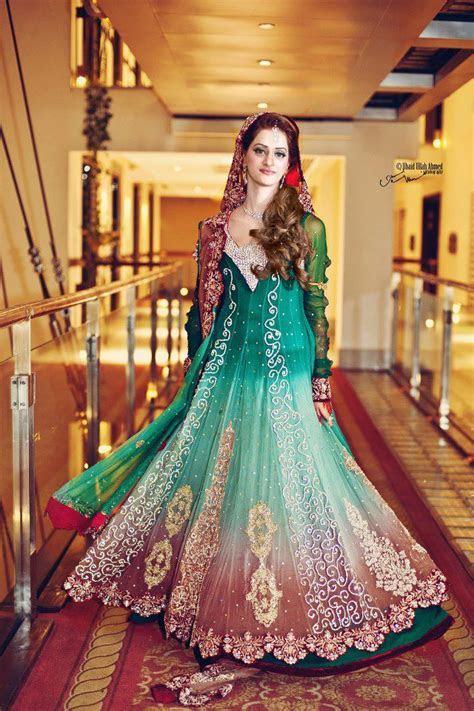 Green bridal dresses   Latest bridal dresses designs 2013