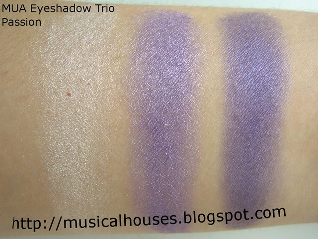 mua eyeshadow trio passion swatch