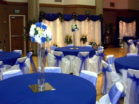 Blue and gray decorating ideas, royal blue and white