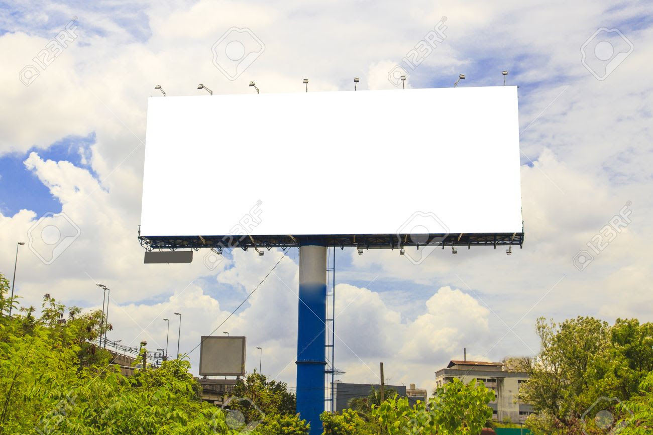 Blank Outdoor Billboard Stock Photo, Picture And Royalty Free ...