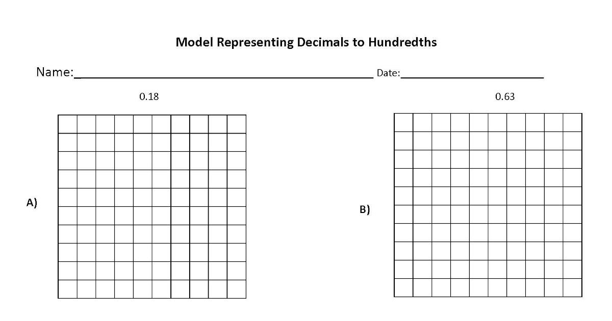 4th Grade Rounding Decimals Worksheet