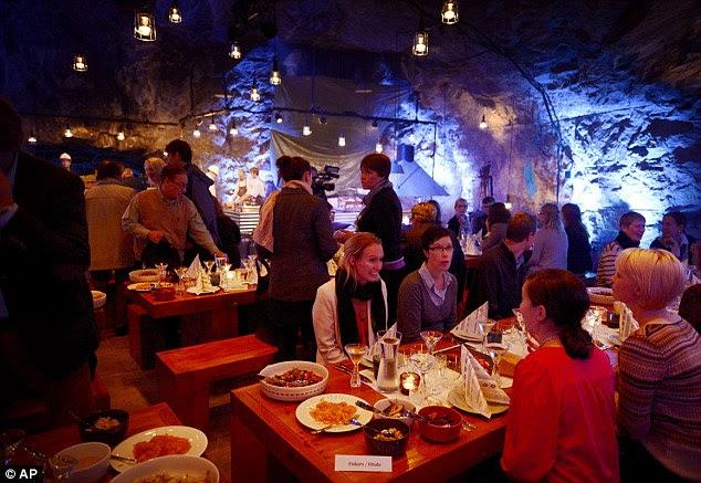 Underground mine restaurant