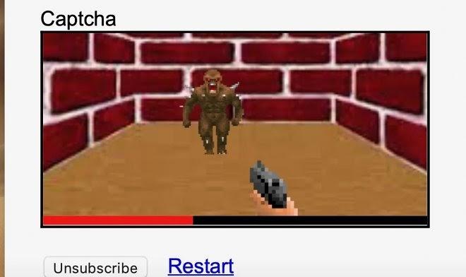 Новая CAPTCHA предложит вам вместо разглядывания картинок сыграть в Doom