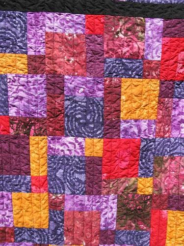 Dad's quilt, close up