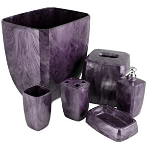 Amazon.com: Purple Cameo Bath Accessories: Home & Kitchen