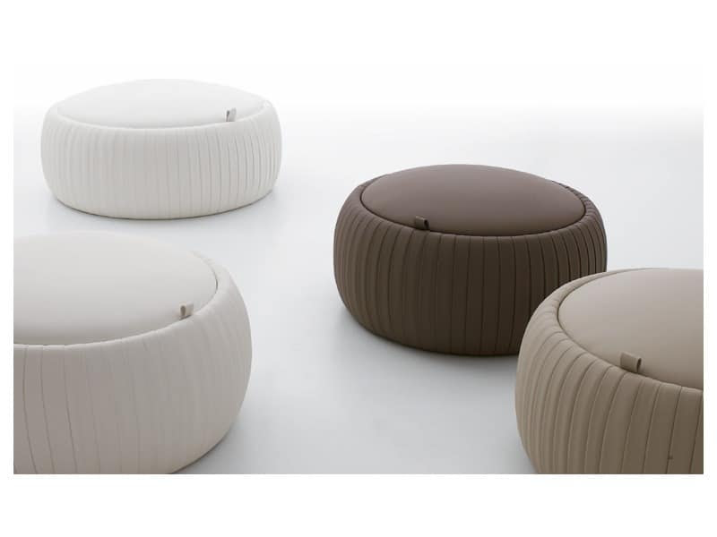 PLISSE' pouf by Tonin Casa Srl - eco-leather pouf, pouf with ...