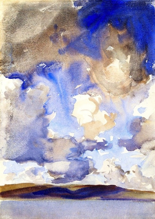 bofransson:  Clouds (also known as A Sky) John Singer Sargent - circa 1896