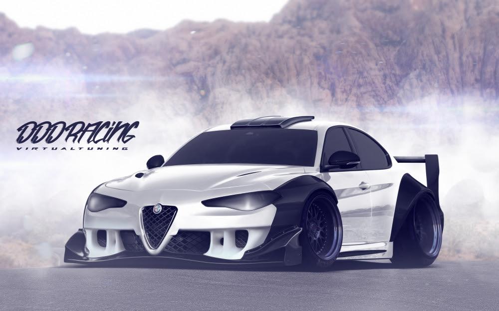 Wallpaper Alfa Romeo Giulia, Sport Cars, White