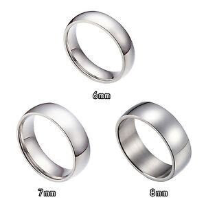6MM 7MM 8MM Stainless Steel Wedding Bands Ring Size 6 15