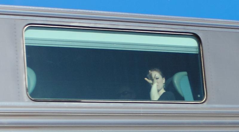 Waving Passenger