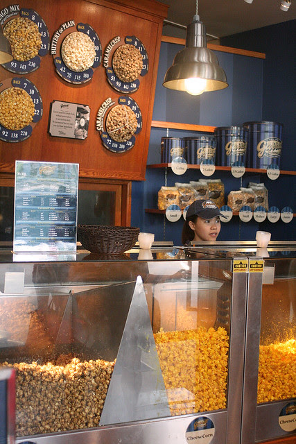 Garrett Popcorn's first shop at Sentosa